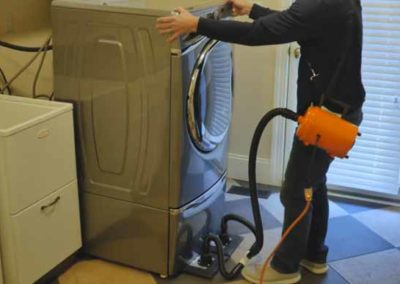 Moving a washing machine with an Airsled
