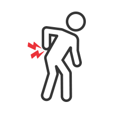 Icon of person with back pain