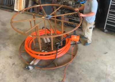 3-in-1 system for moving industrial cable spool