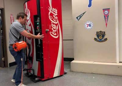 Moving Snack and Soda Vending Machines With an Airsled
