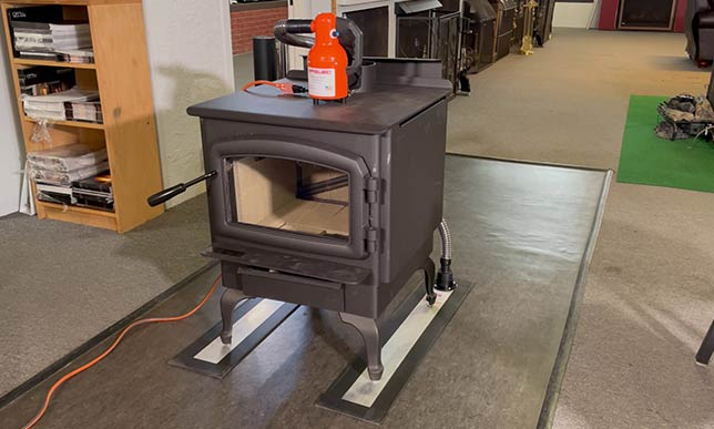 Airsled Light Duty Appliance Mover moving a heavy stove